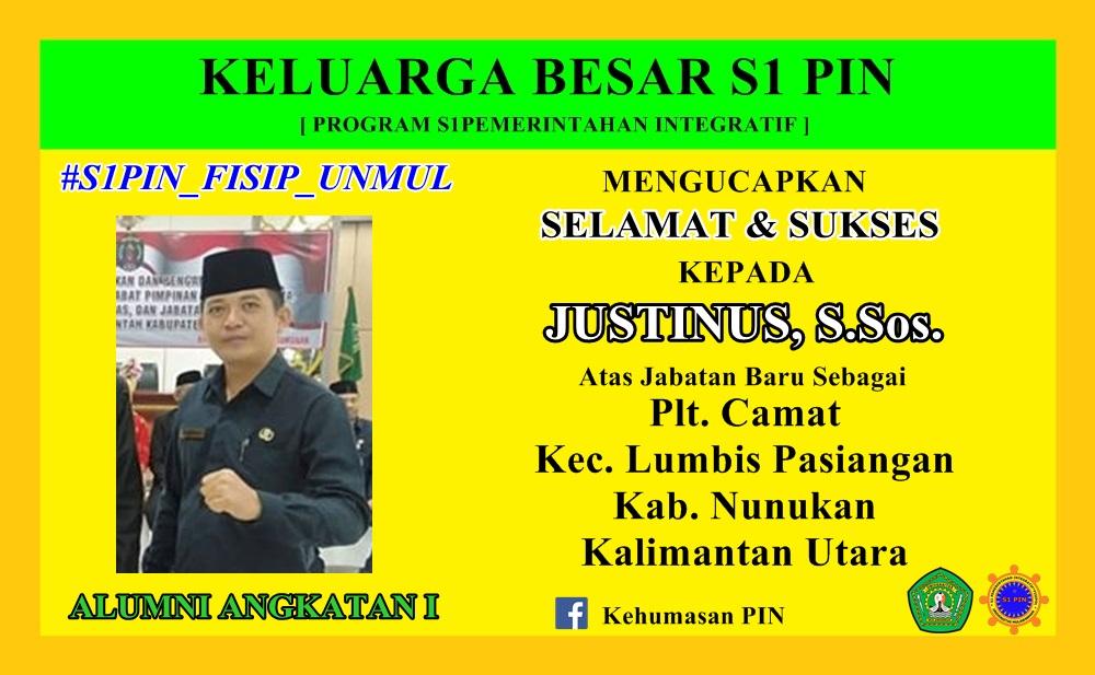 Justinus PLT.CAMAT new